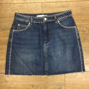 Topshop Moto Jean mini skirt with studs 6